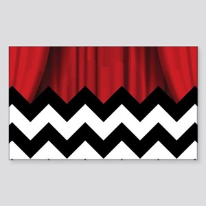 twin peaks chevron Sticker