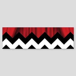 twin peaks chevron Bumper Sticker