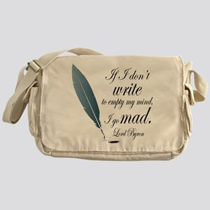 Lord Byron Quote Messenger Bag