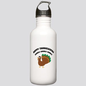 Gobble Happy Thanksgiving Stainless Water Bottle 1