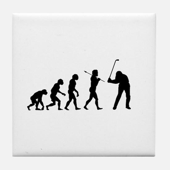 Evolved To Golf Tile Coaster