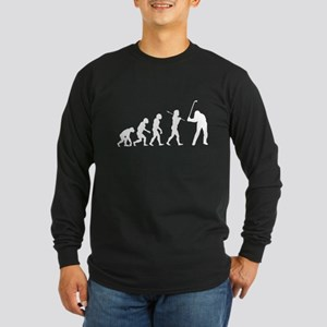 Evolved To Golf Long Sleeve Dark T-Shirt