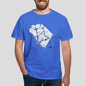 Dallas Men's T-Shirt White on Royal Blue