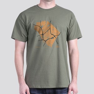 Dallas Men's T-Shirt Gold on Military Green