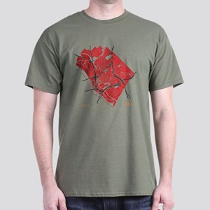 Dallas Men's T-Shirt Red on Military Green