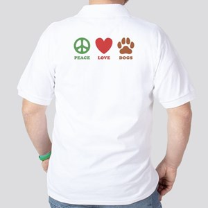 Peace Love Dogs 2 Golf Shirt