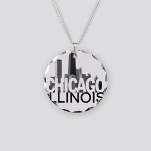 Chicago Skyline Necklace Circle Charm