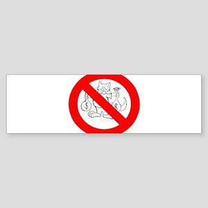 NO FAT CATS™ Sticker (Bumper)