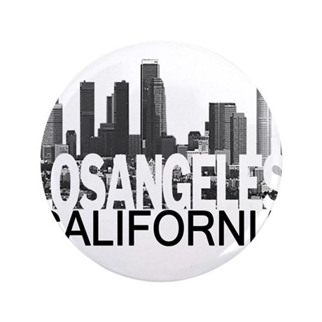 """Los Angeles Skyline 3.5"""" Button (100 pack)"""