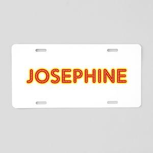 Josephine in Movie Lights Aluminum License Plate