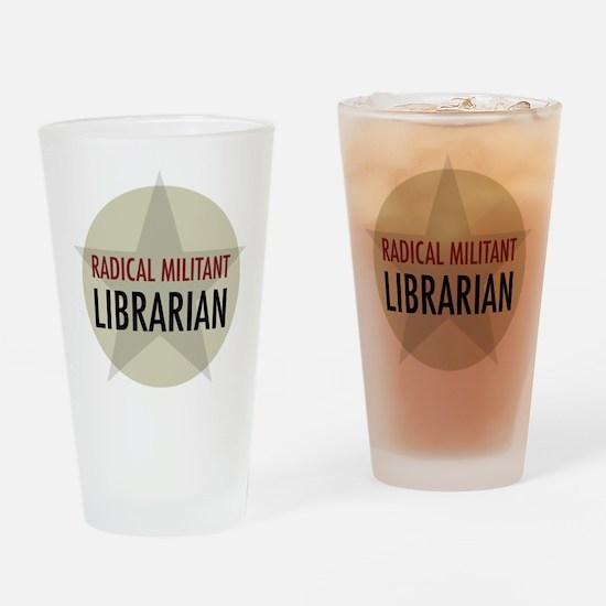 Radical Librarian Drinking Glass