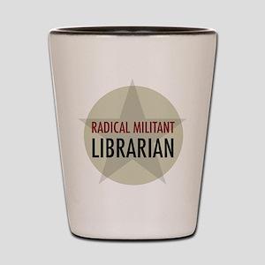 Radical Librarian Shot Glass