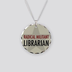 Radical Librarian Necklace Circle Charm