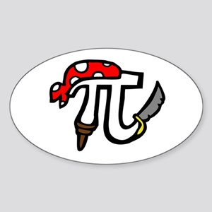 Pi Pirate Sticker (Oval)