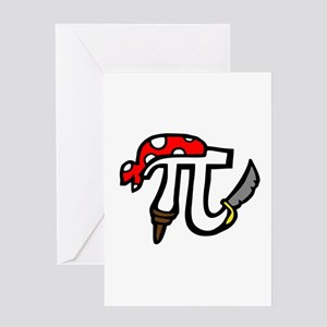 Pi Pirate Greeting Card