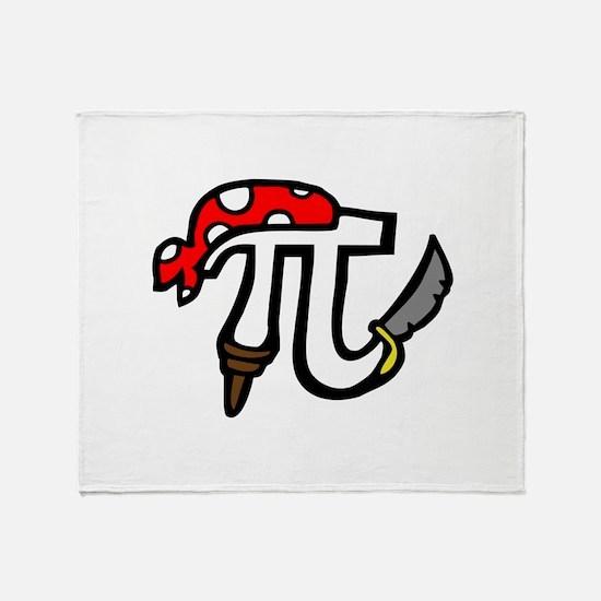 Pi Pirate Throw Blanket