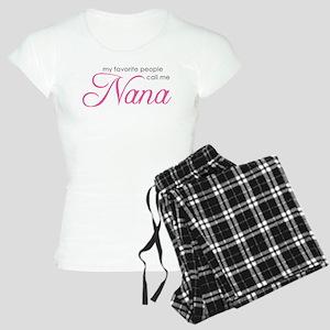 Favorite People Call Me Nana Women's Light Pajamas