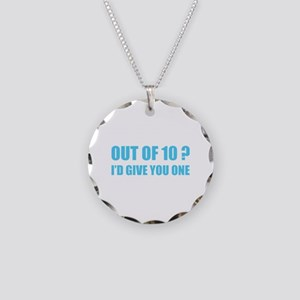 Out of 10? Necklace Circle Charm