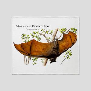 Malayan Flying Fox Throw Blanket