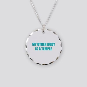 My other body is a temple Necklace Circle Charm