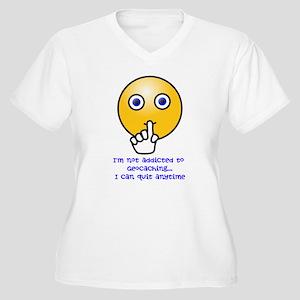 I'm Not Addicted Women's Plus Size V-Neck T-Shirt