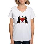 Gordon Setter Women's V-Neck T-Shirt
