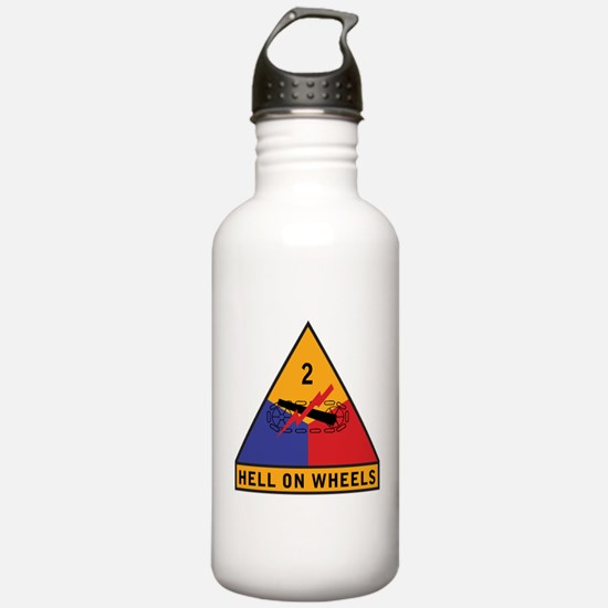 2nd Armored Division Water Bottle