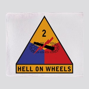 2nd Armored Division Throw Blanket