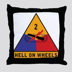 2nd Armored Division Throw Pillow