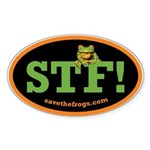 SAVE THE FROGS! Sticker (Oval 10 pk)