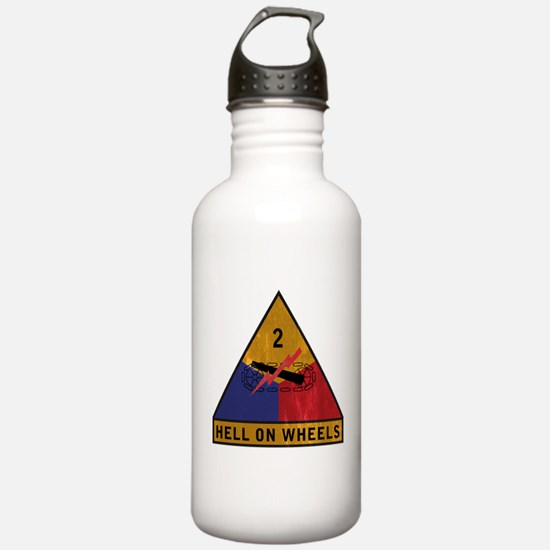 2nd Armored Division Vintage Water Bottle