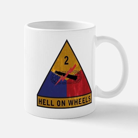 2nd Armored Division Vintage Mug