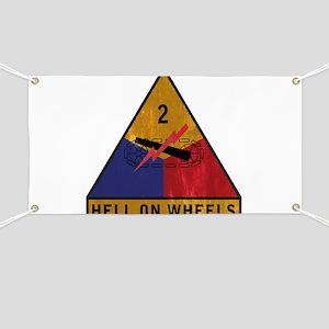 2nd Armored Division Vintage Banner