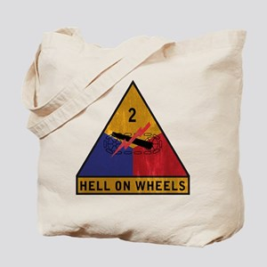 2nd Armored Division Vintage Tote Bag