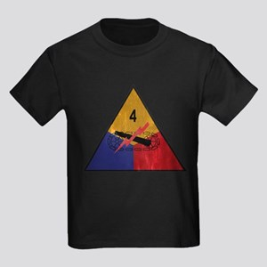 4th Armored Division Vintage Kids Dark T-Shirt