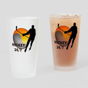 Hockey 24/7 Drinking Glass