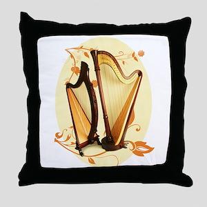 Harp Love Throw Pillow