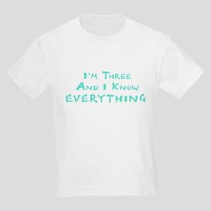 I'm 3! Kids Light T-Shirt