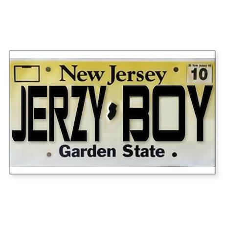 Jersey Boy Sticker (Rectangle 10 pk)