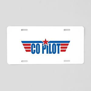 Co Pilot Wings Aluminum License Plate