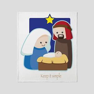 Nativity Throw Blanket