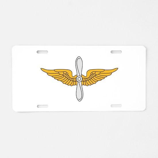 Aviation Branch Insignia Aluminum License Plate