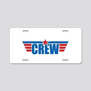 Aviation Crew Wings Aluminum License Plate