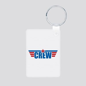 Aviation Crew Wings Aluminum Photo Keychain