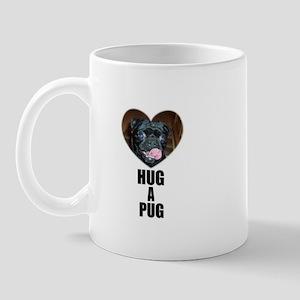 HUG A PUG (BLACK CHINESE PUG) Mug