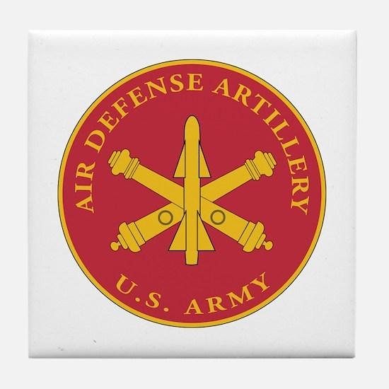 Air Defense Artillery Plaque Tile Coaster