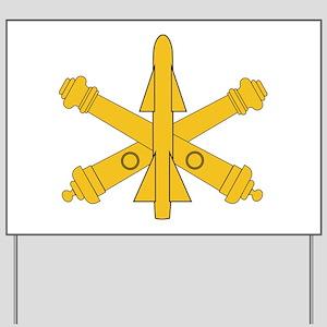 Air Defense Artillery Branch Insignia Yard Sign