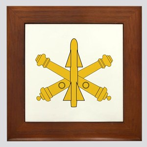 Air Defense Artillery Branch Insignia Framed Tile