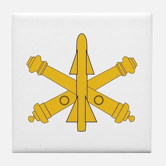 Air Defense Artillery Branch Insignia Tile Coaster