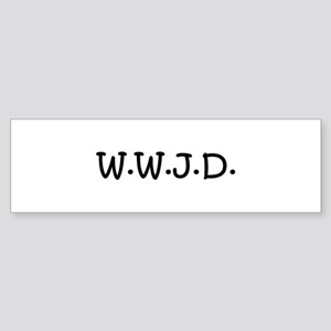 WWJD Sticker (Bumper)